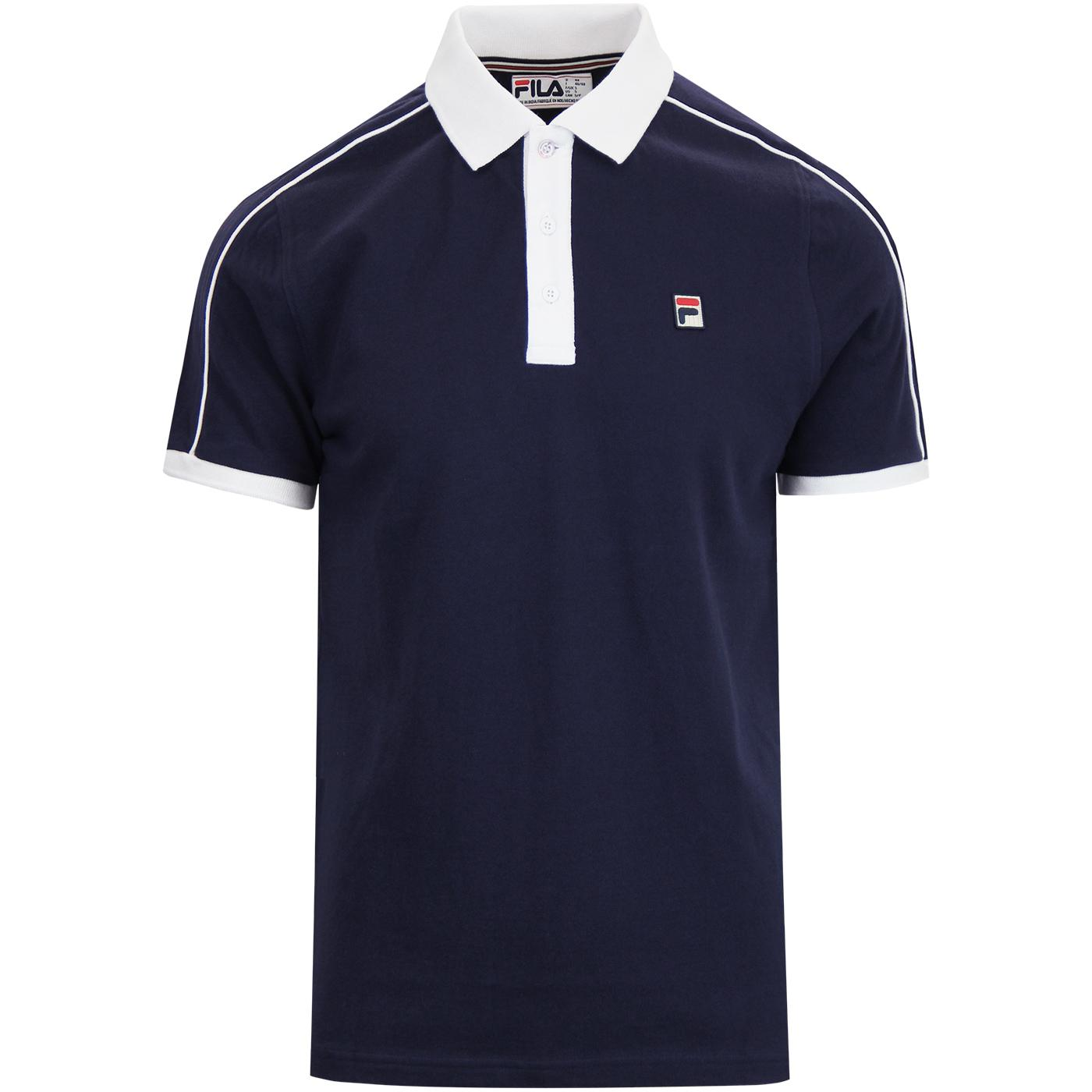 Klein FILA VINTAGE Men's Mod Piped Trim Polo Top