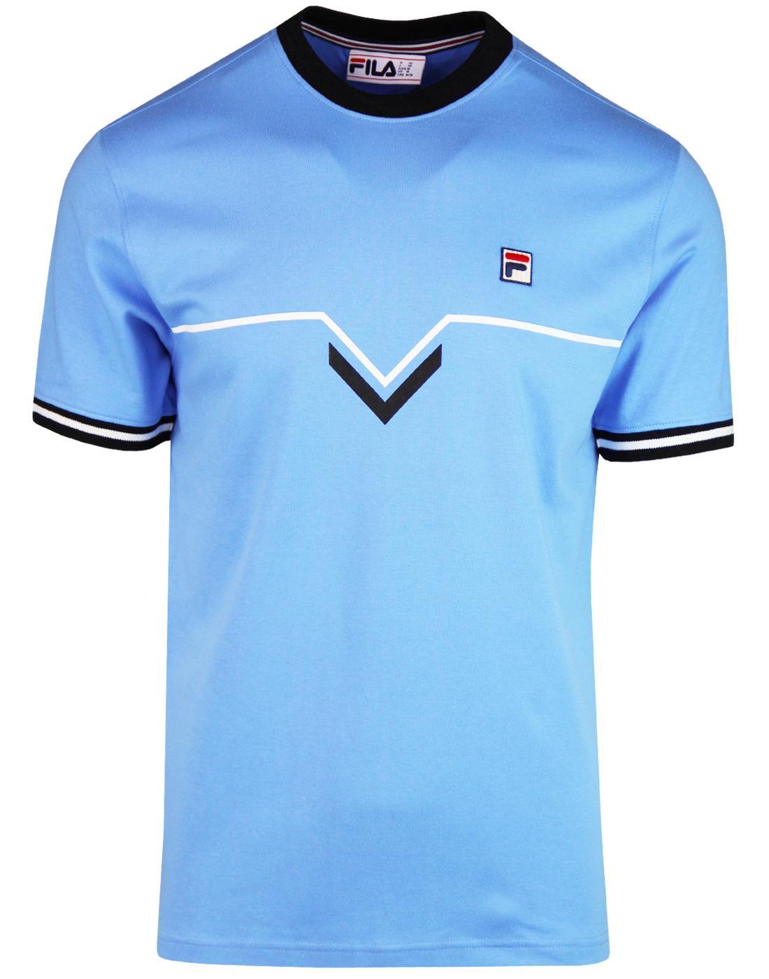 Leandro FILA VINTAGE Retro Chevron Stripe T-Shirt