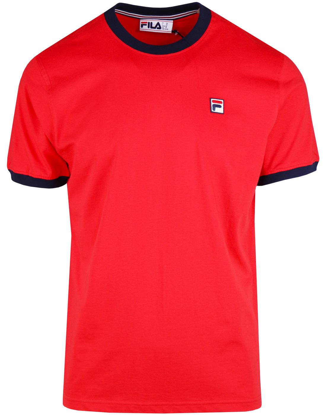 Marconi FILA VINTAGE Retro 70s Ringer T-Shirt (CR)