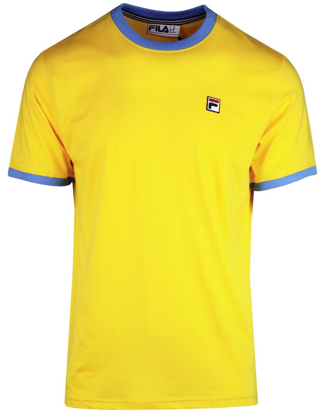 Marconi FILA VINTAGE Retro 80s Ringer T-Shirt (YC)