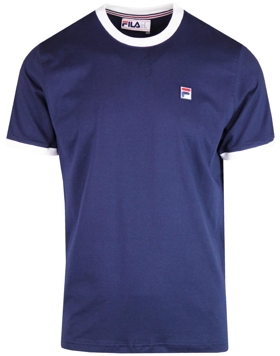 Marconi FILA VINTAGE Men's Retro Ringer T-Shirt P