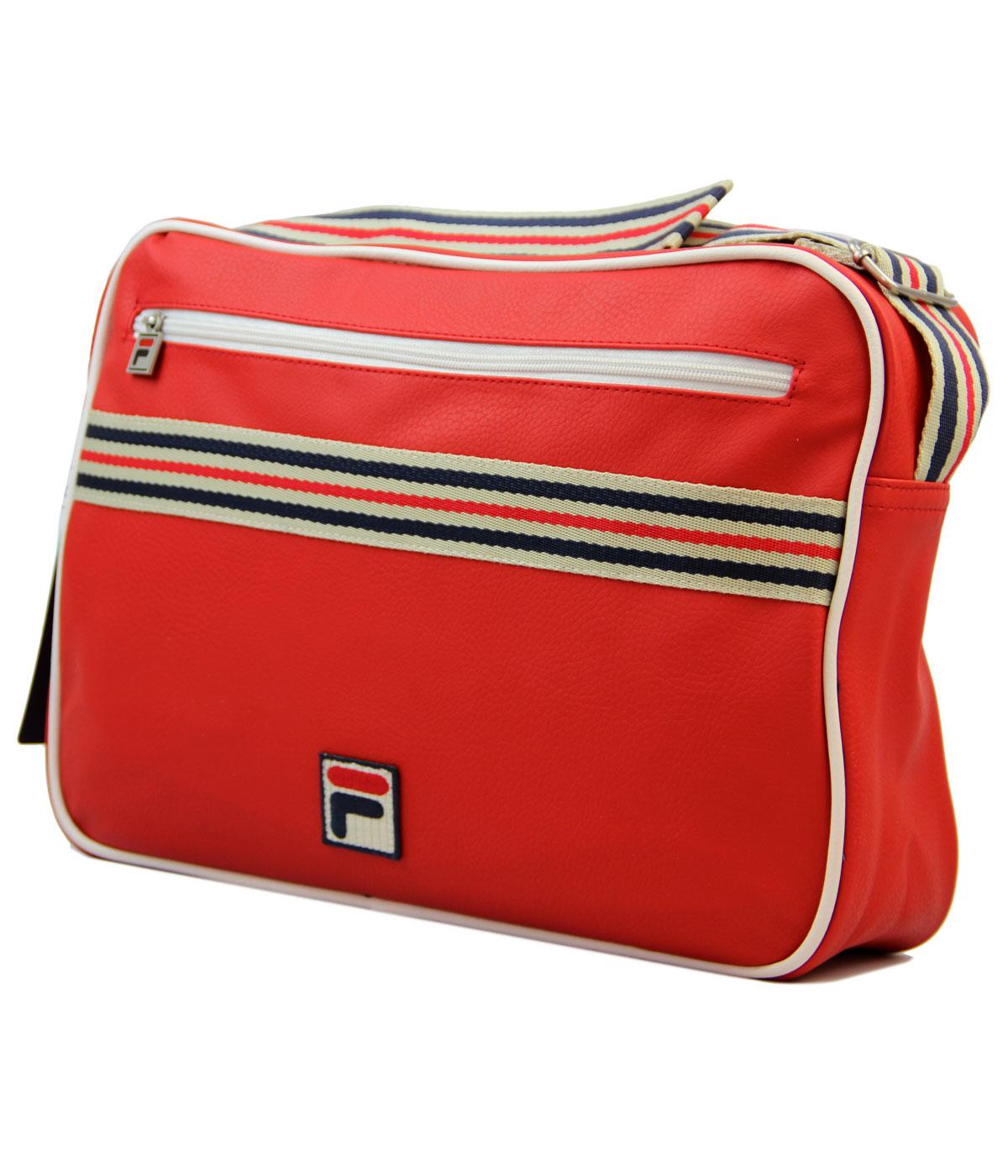 7155236e51d FILA VINTAGE Cambria Retro Mod Flight Bag in Chinese Red