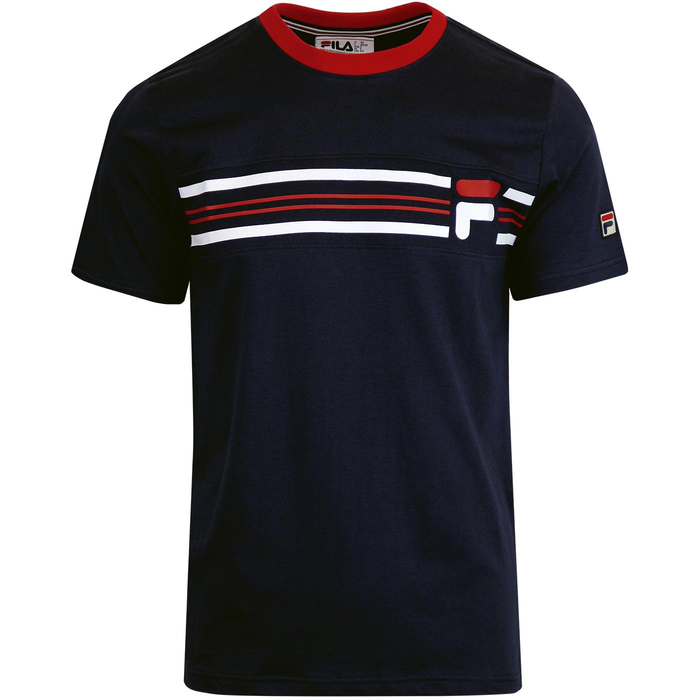 Bruno 3 FILA VINTAGE 1980s Cut & Sew T-shirt (P/R)