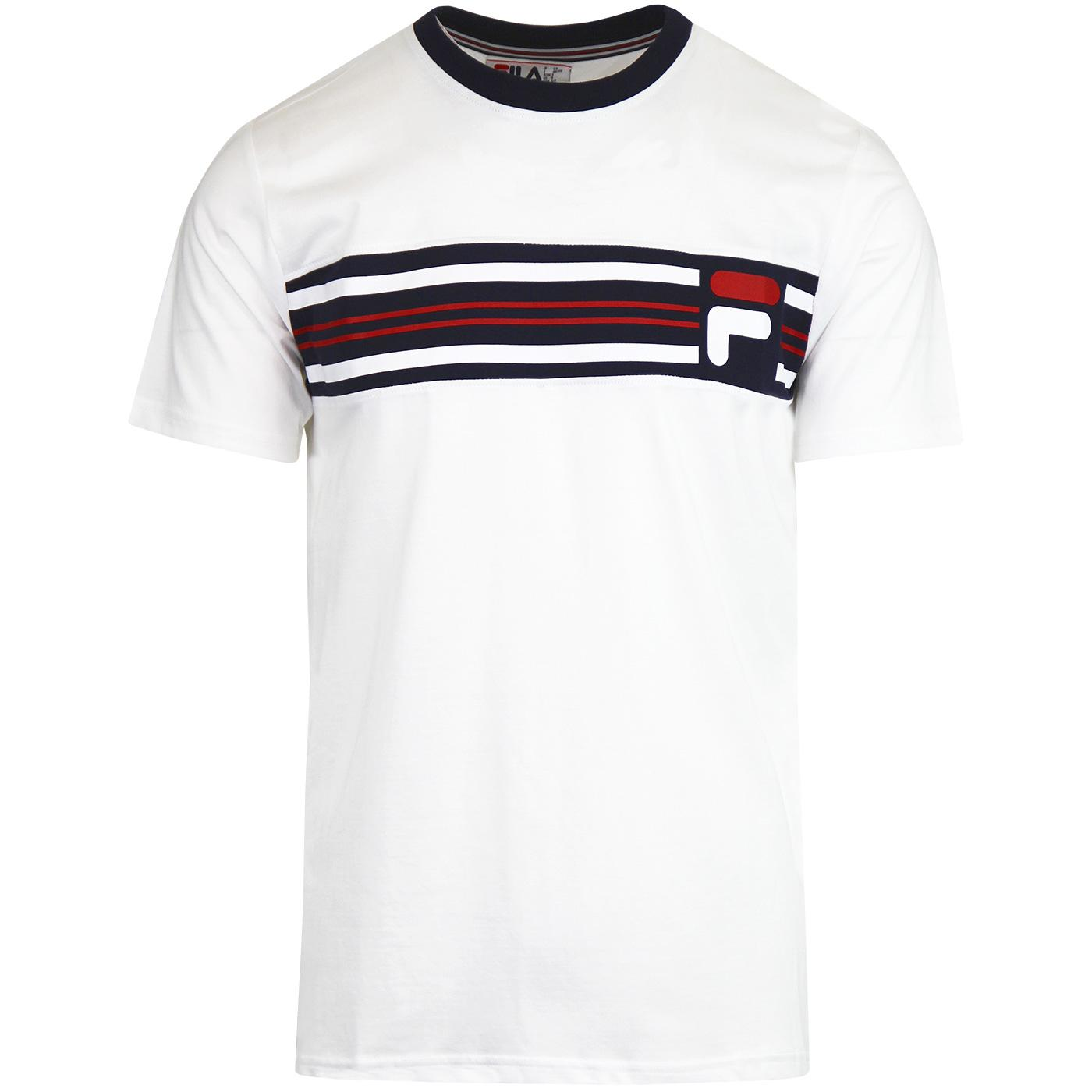 b065dbc311cf FILA VINTAGE Bruno 3 80s Casuals Cut & Sew T-shirt in White