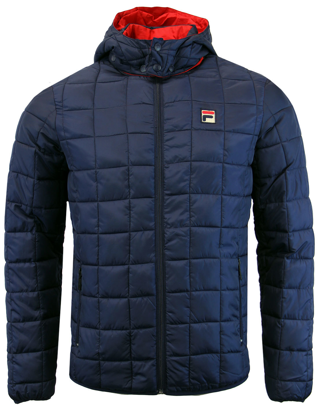 f7548f19058b FILA VINTAGE Passo Retro 70s Hooded Puffa Ski Jacket in Peacoat