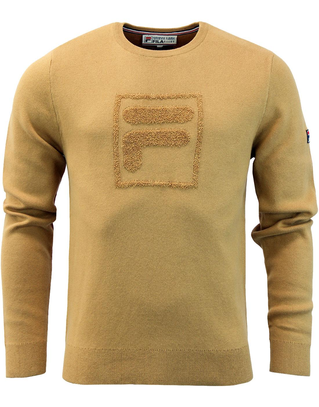 Savoldi FILA VINTAGE Knitted Texture Logo Jumper