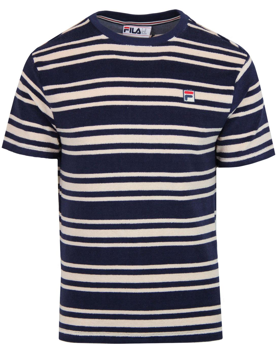 bae751fc05be7 FILA VINTAGE Alexandro Retro 1980s Terry Towelling T-shirt