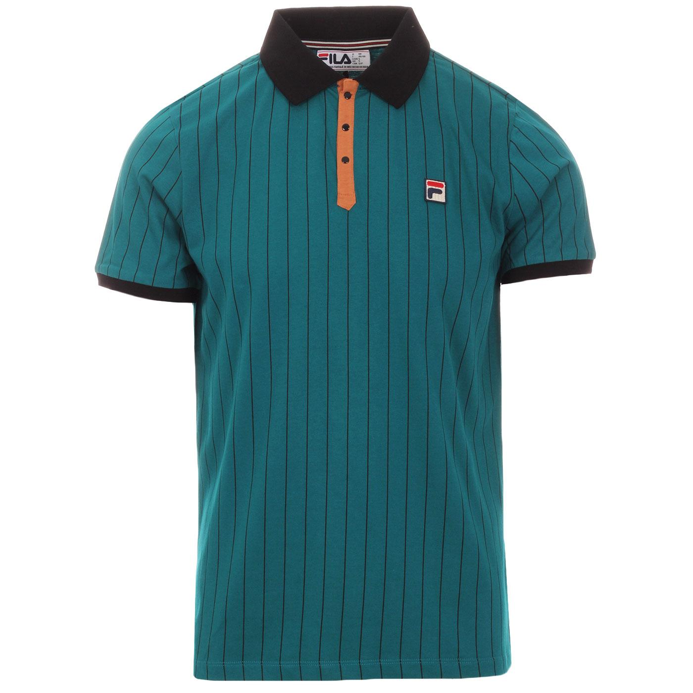 BB1 FILA VINTAGE Retro Borg Tennis Polo Top (HB)