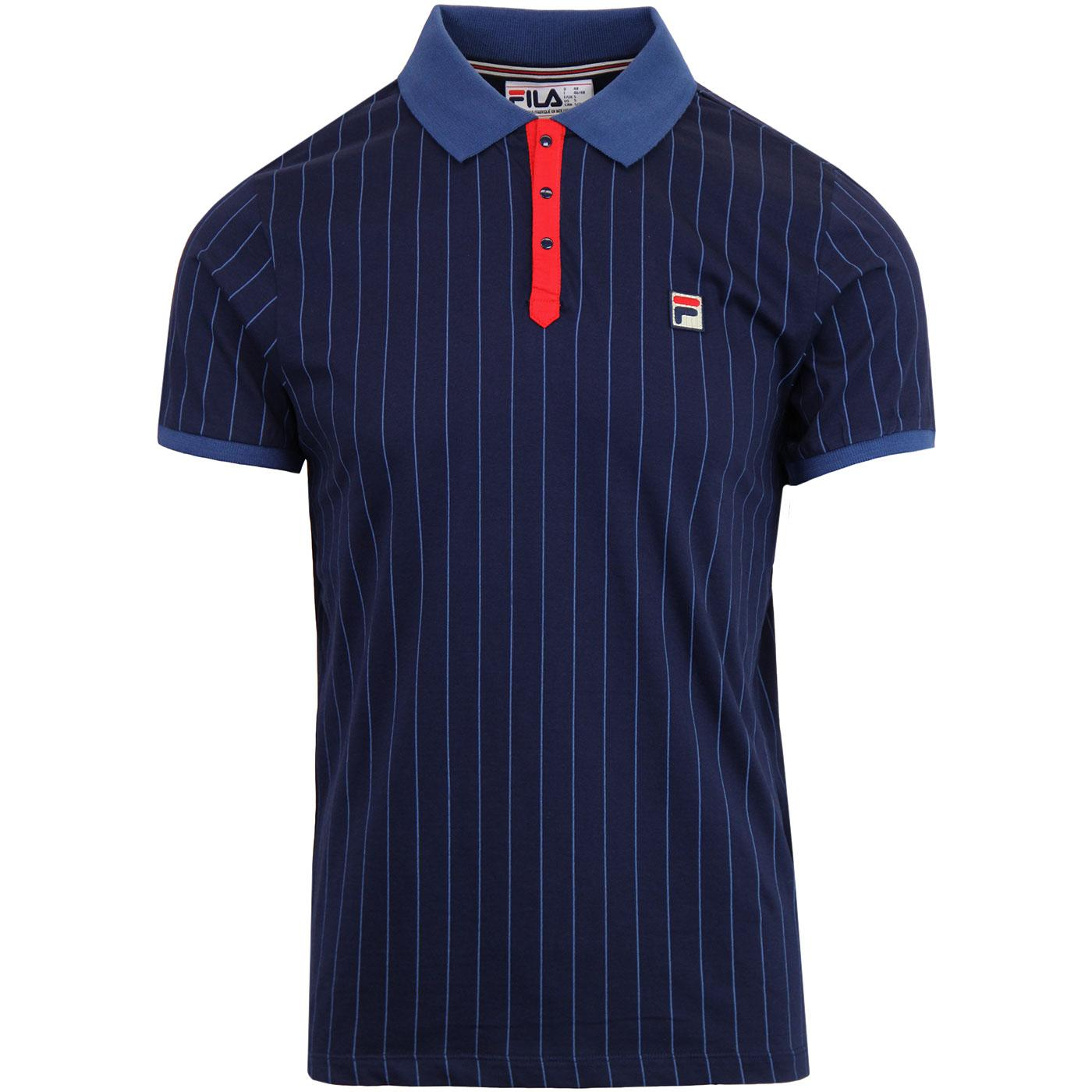 BB1 FILA VINTAGE Retro Borg Tennis Polo (PEACOAT)