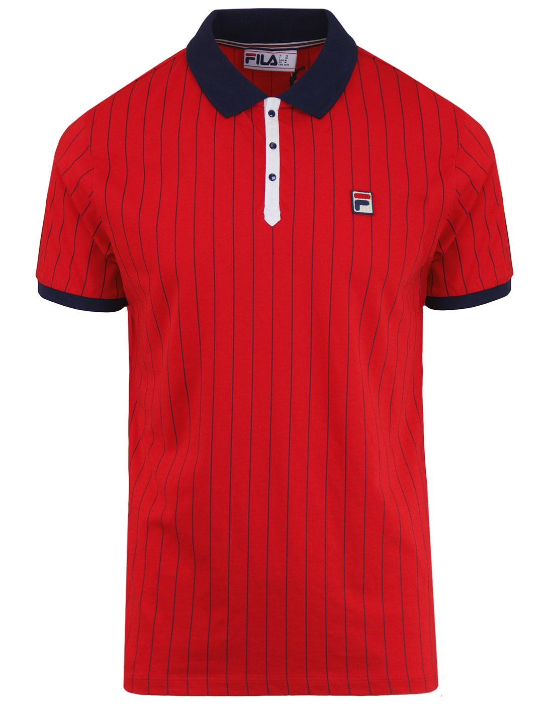 BB1 FILA VINTAGE Retro 70s Borg Tennis Polo Top CR