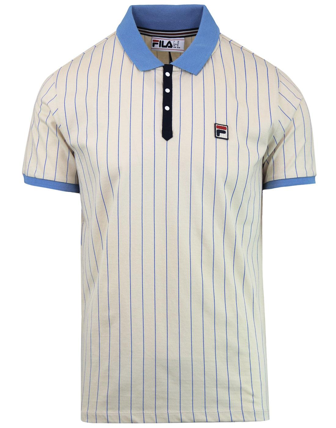 BB1 FILA VINTAGE Retro Borg Tennis Polo Top (T/B)