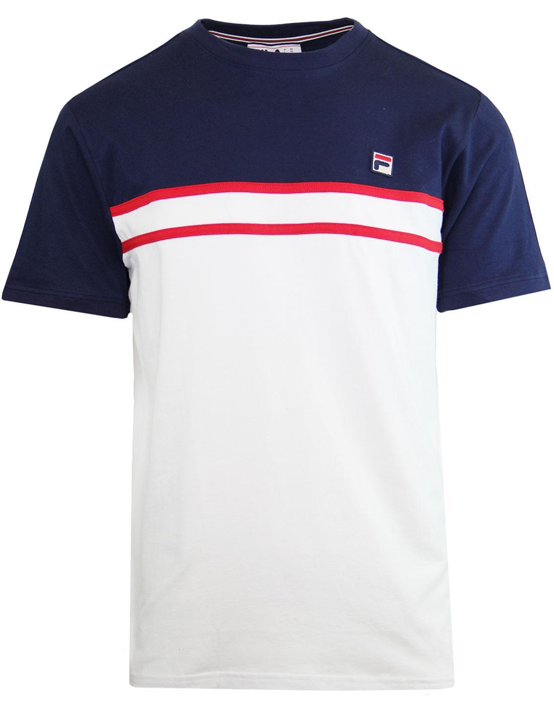 d7f6b60485fd FILA VINTAGE Baldi Retro 80s Cut & Sew T-shirt Peacoat