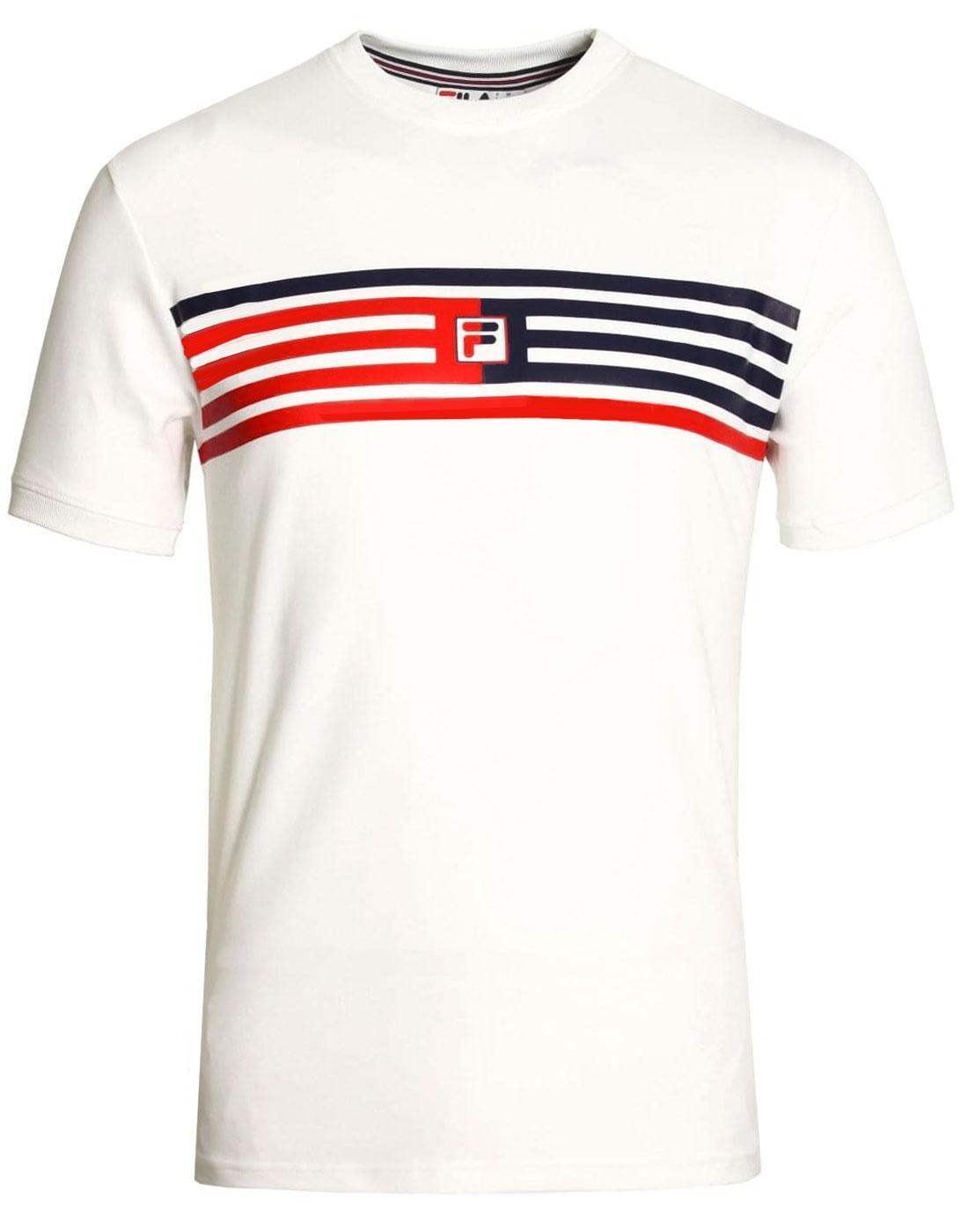 Bruno 2 FILA VINTAGE Retro Stripe F-Box Logo Tee W