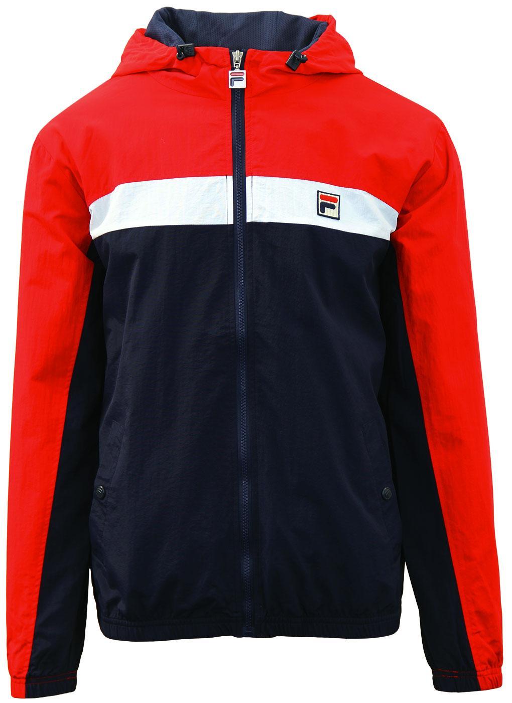 FILA VINTAGE Clipper Retro Stripe Hooded Jacket P