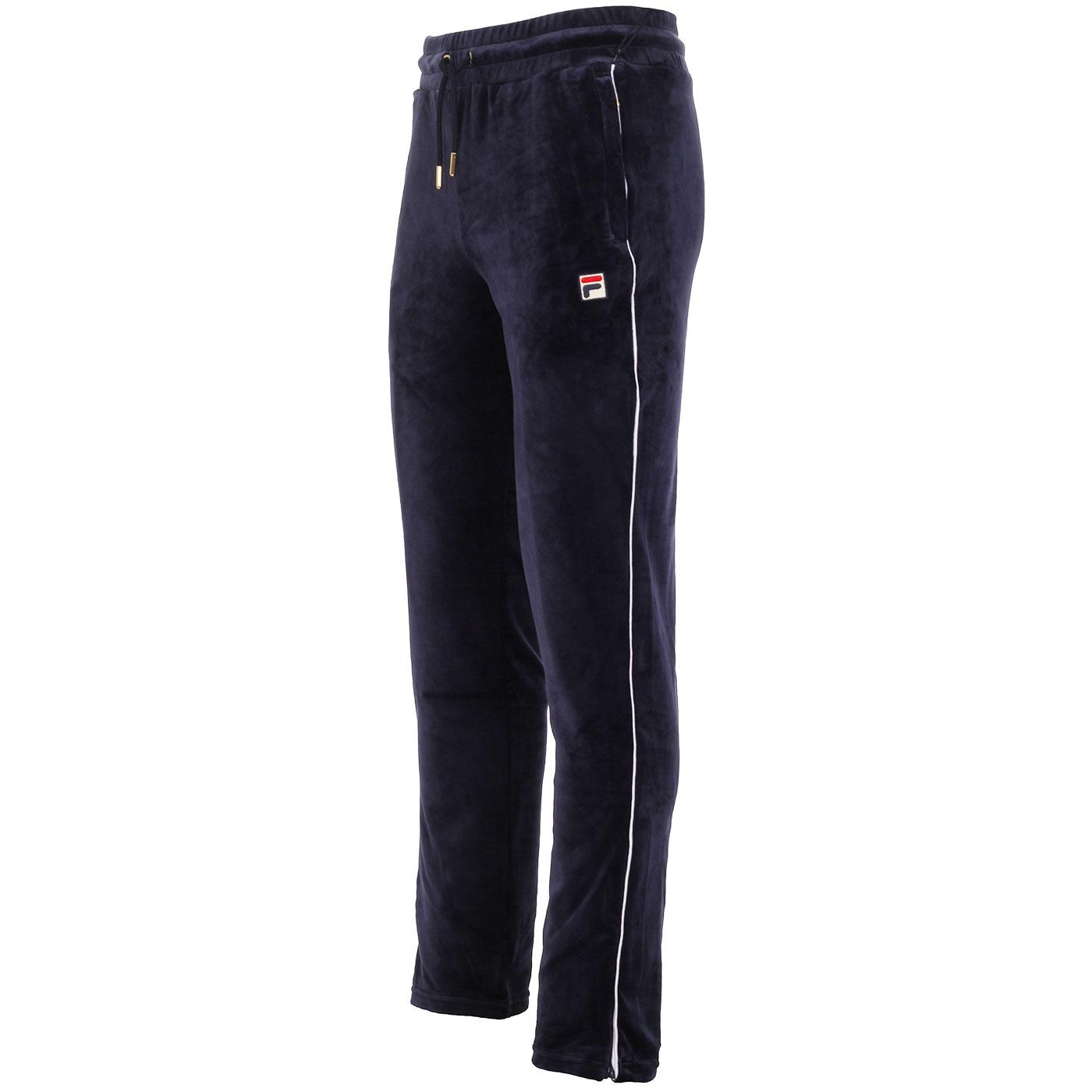 Cyrus FILA VINTAGE 80s Velour Piped Track Pants P
