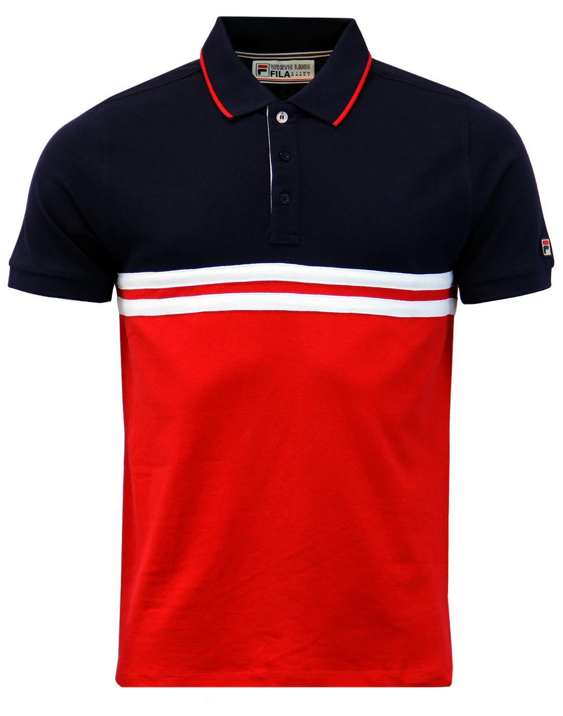Domenico FILA VINTAGE Men's Retro 70s Polo Shirt