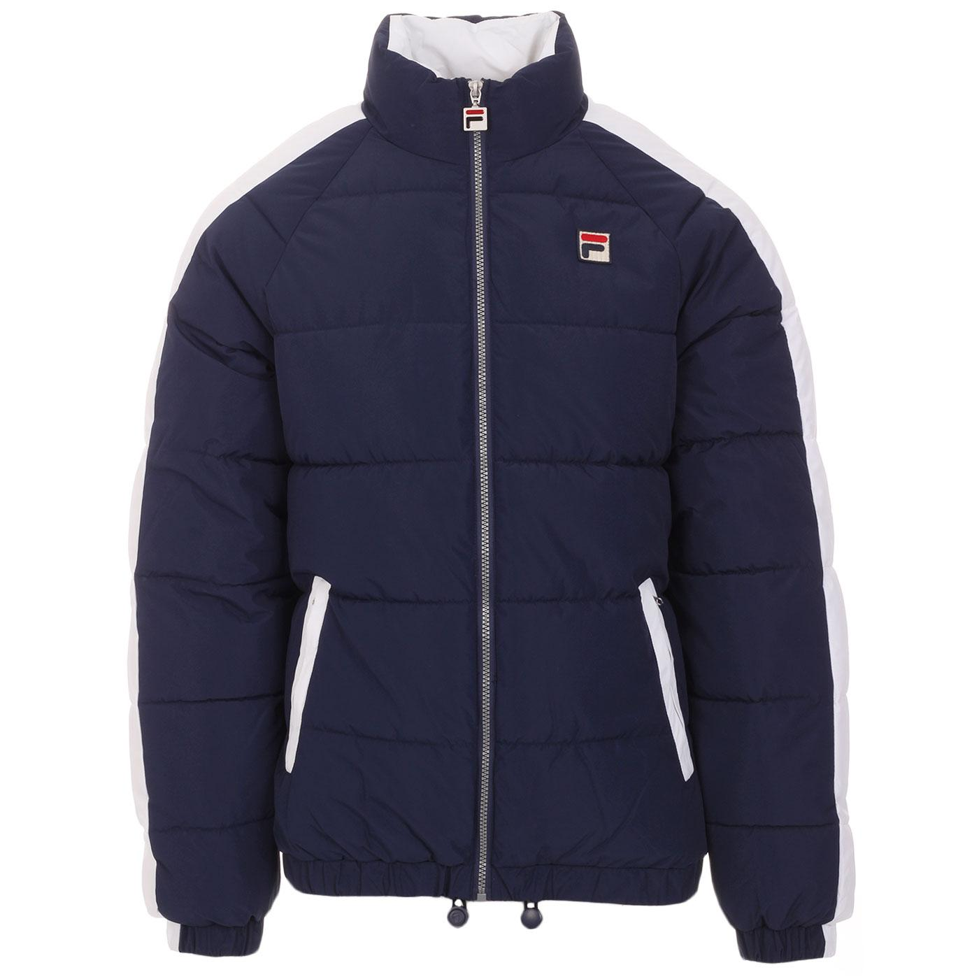 Ledger FILA VINTAGE Retro 1980s Quilted Jacket (P)