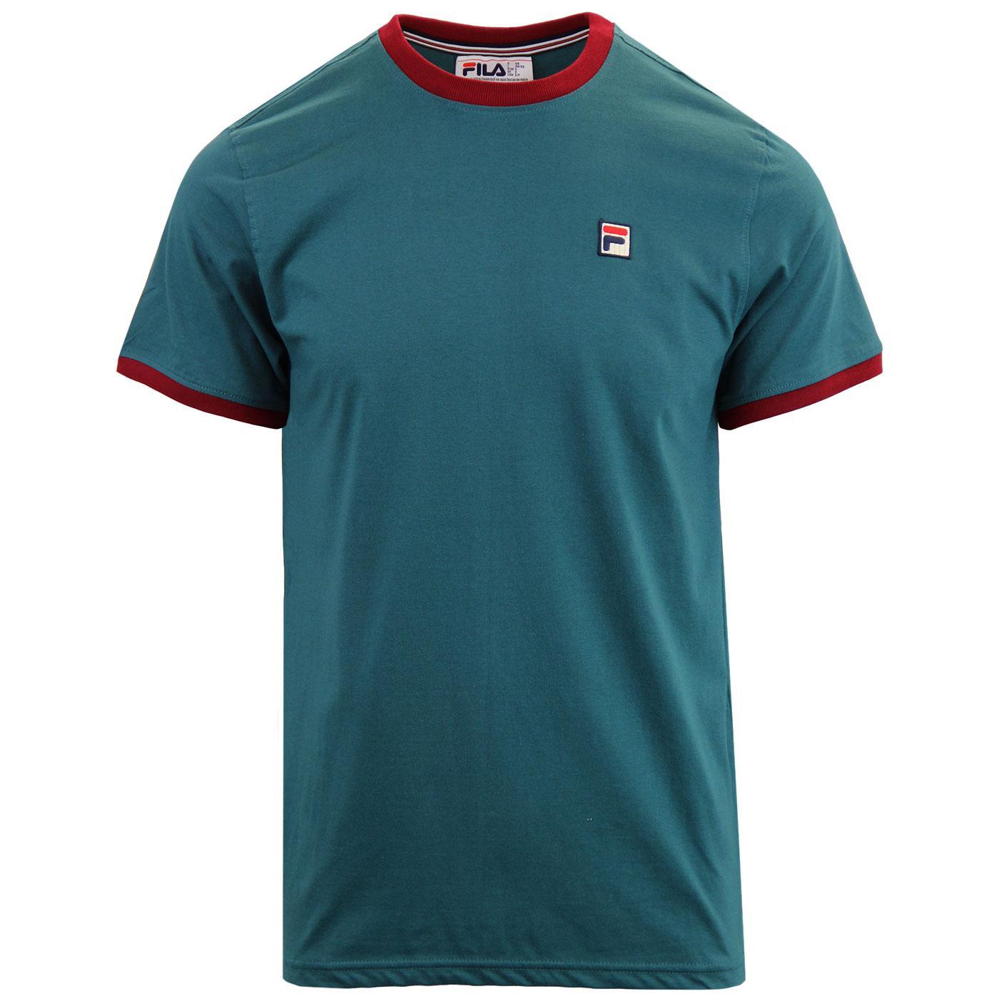 Marconi FILA VINTAGE Retro 70s Ringer T-Shirt (AD)