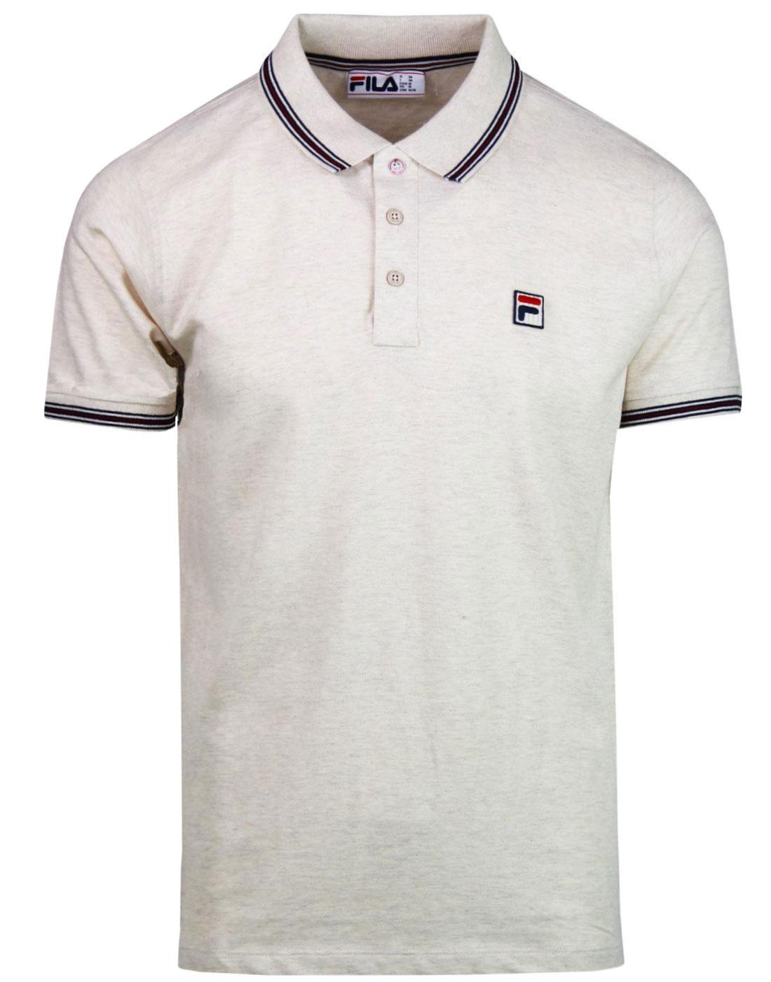 Matcho FILA VINTAGE 70s Retro Pique Polo Top ECRU