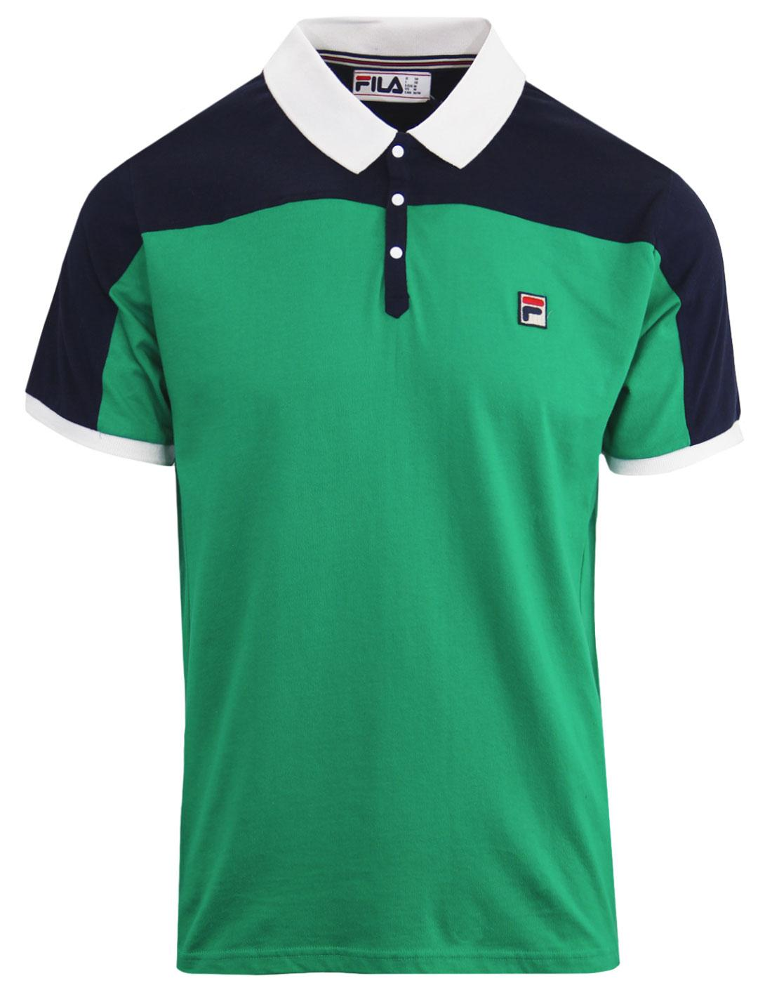 Mivvi FILA VINTAGE Mens 80s Tennis Polo JELLY BEAN