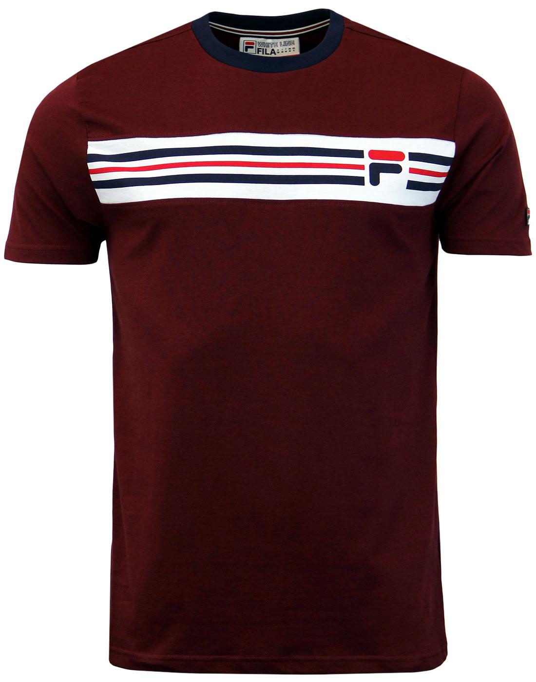 Vandorno FILA VINTAGE Retro 70s T-Shirt - Rum
