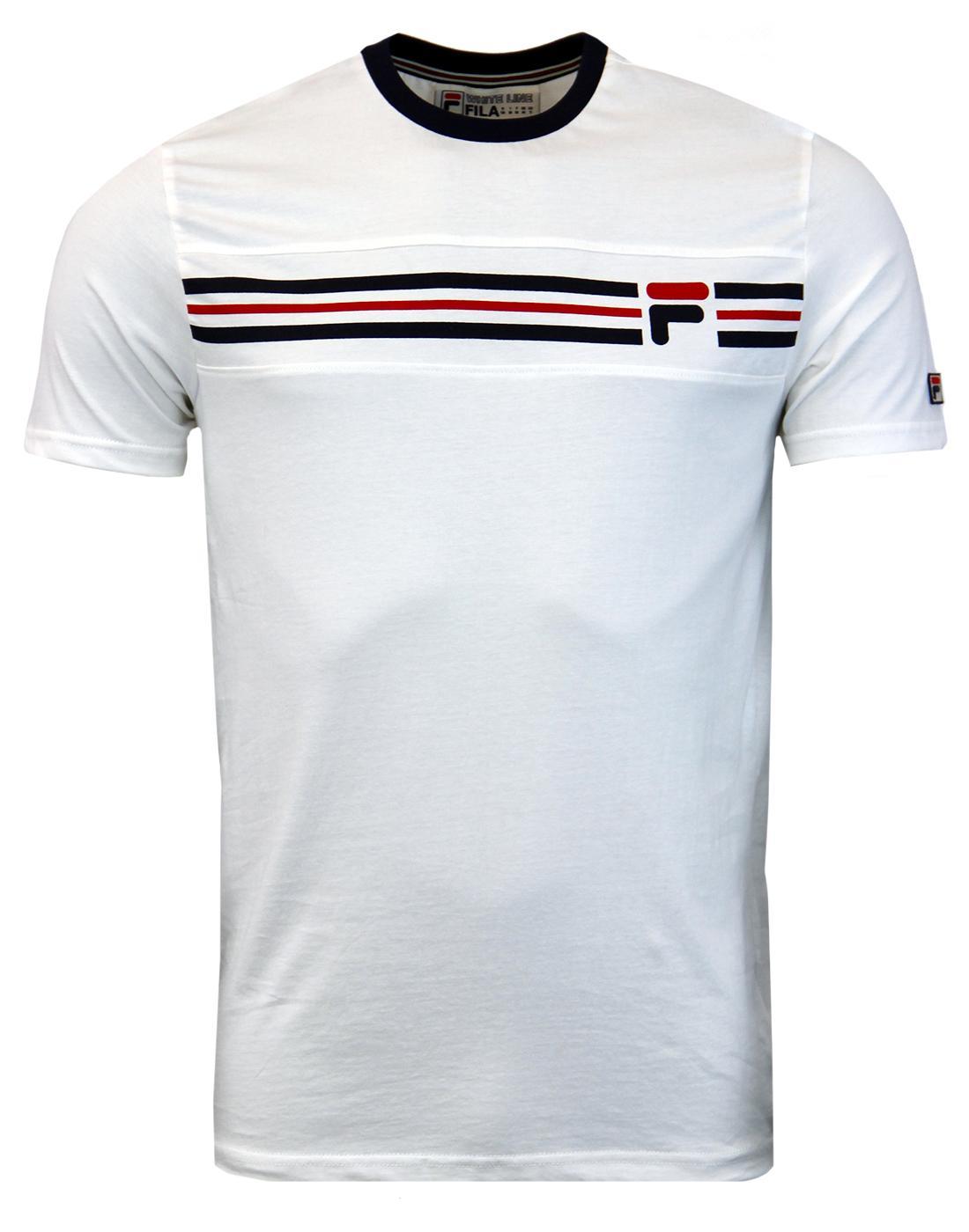 Vandorno FILA VINTAGE Retro 70s T-Shirt - Gardenia