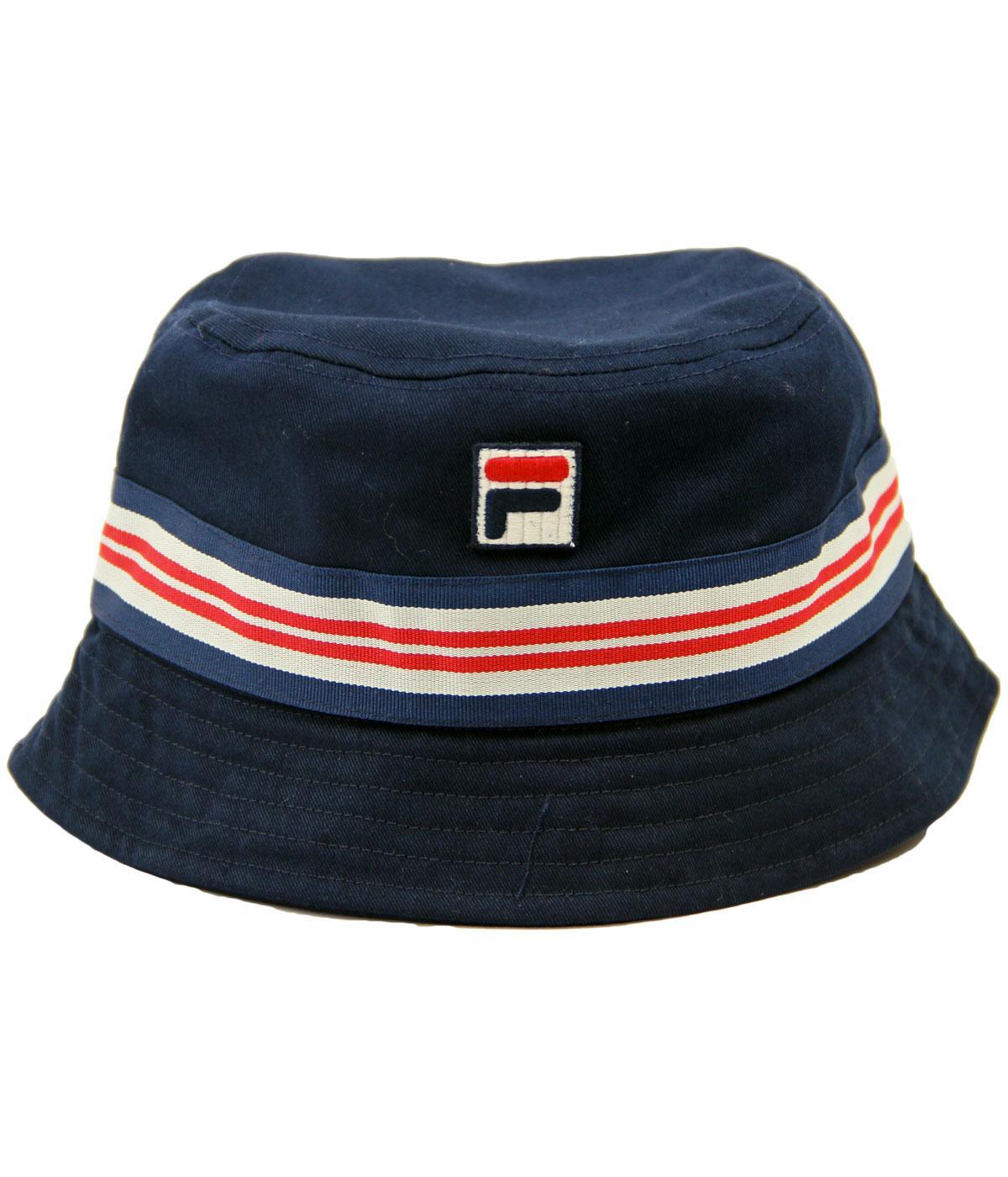 32bc2bd90 FILA VINTAGE Casper Retro Indie Britpop Stripe Trim Bucket Hat