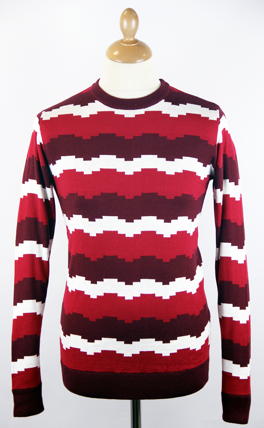 Doppler FLY53 Retro Jagged Block Stripe Jumper (O)