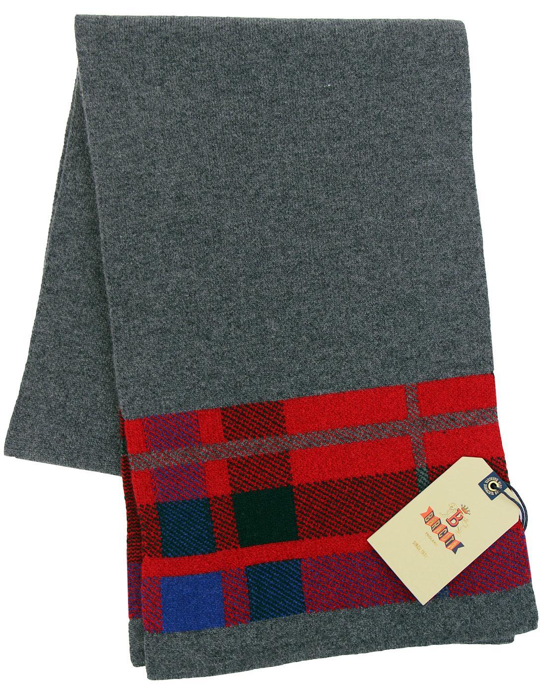 BARACUTA Fraser Tartan Trim Wool & Cashmere Scarf