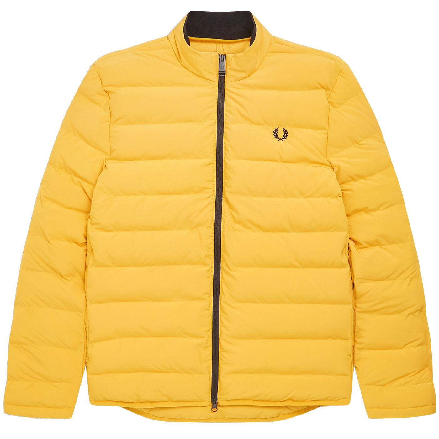 FRED PERRY Mens Retro Insulated Padded Jacket GOLD