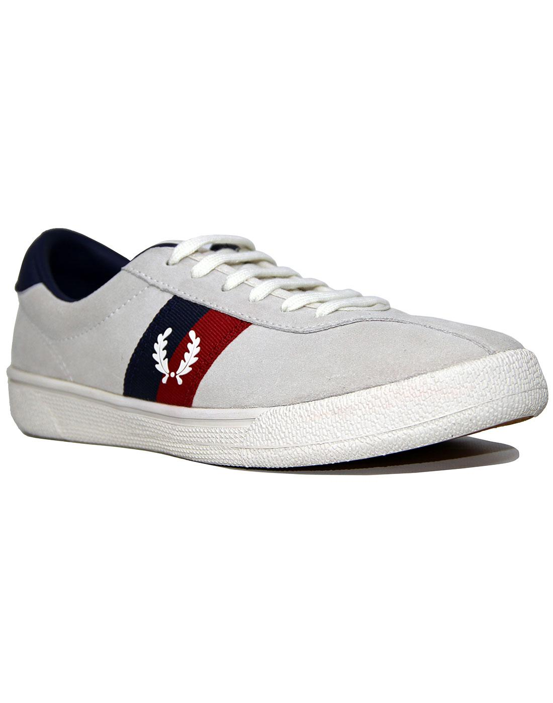 FRED PERRY B108 Tennis Shoe Suede Snow White