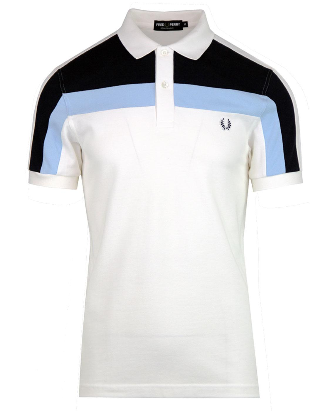 M2603 Fred Perry Block Panel Pique Snow White