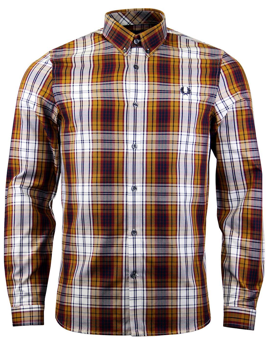 FRED PERRY Retro Mod Bold Check Tartan Shirt (Mu)