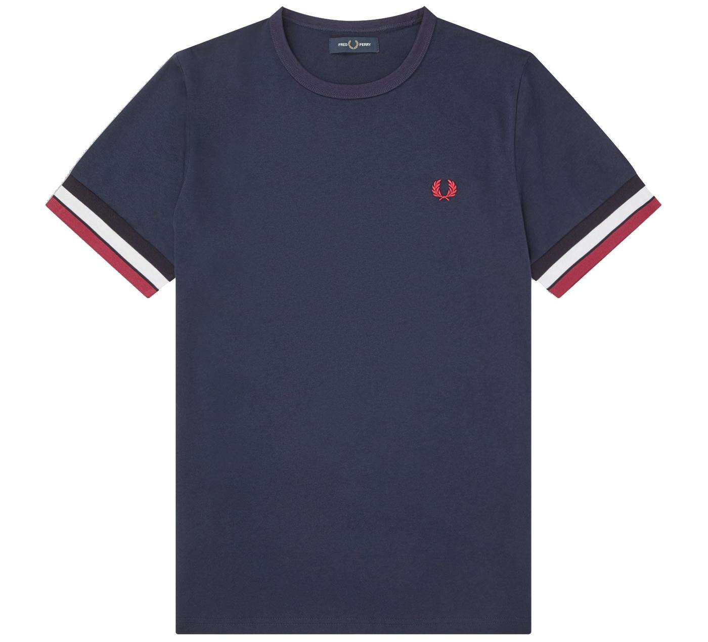 FRED PERRY Men's Retro Bold Tipped T-Shirt NAVY