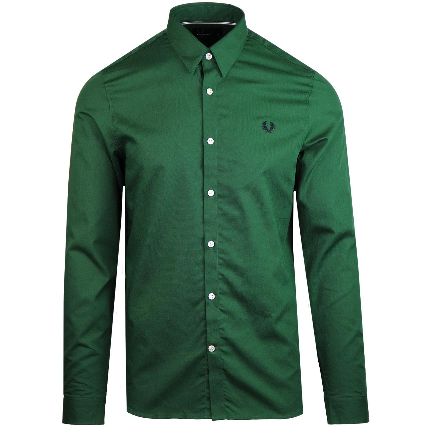 FRED PERRY Mod Button Under Shirt (Tartan Green)