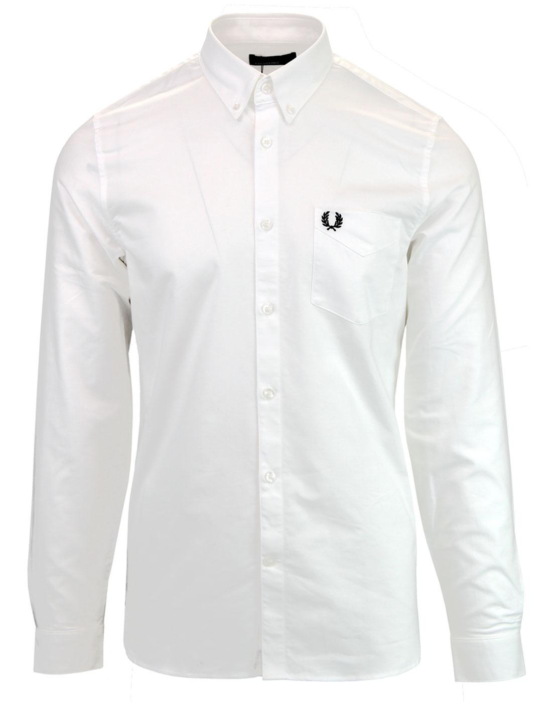 M3551 FRED PERRY OXFORD SHIRT WHITE