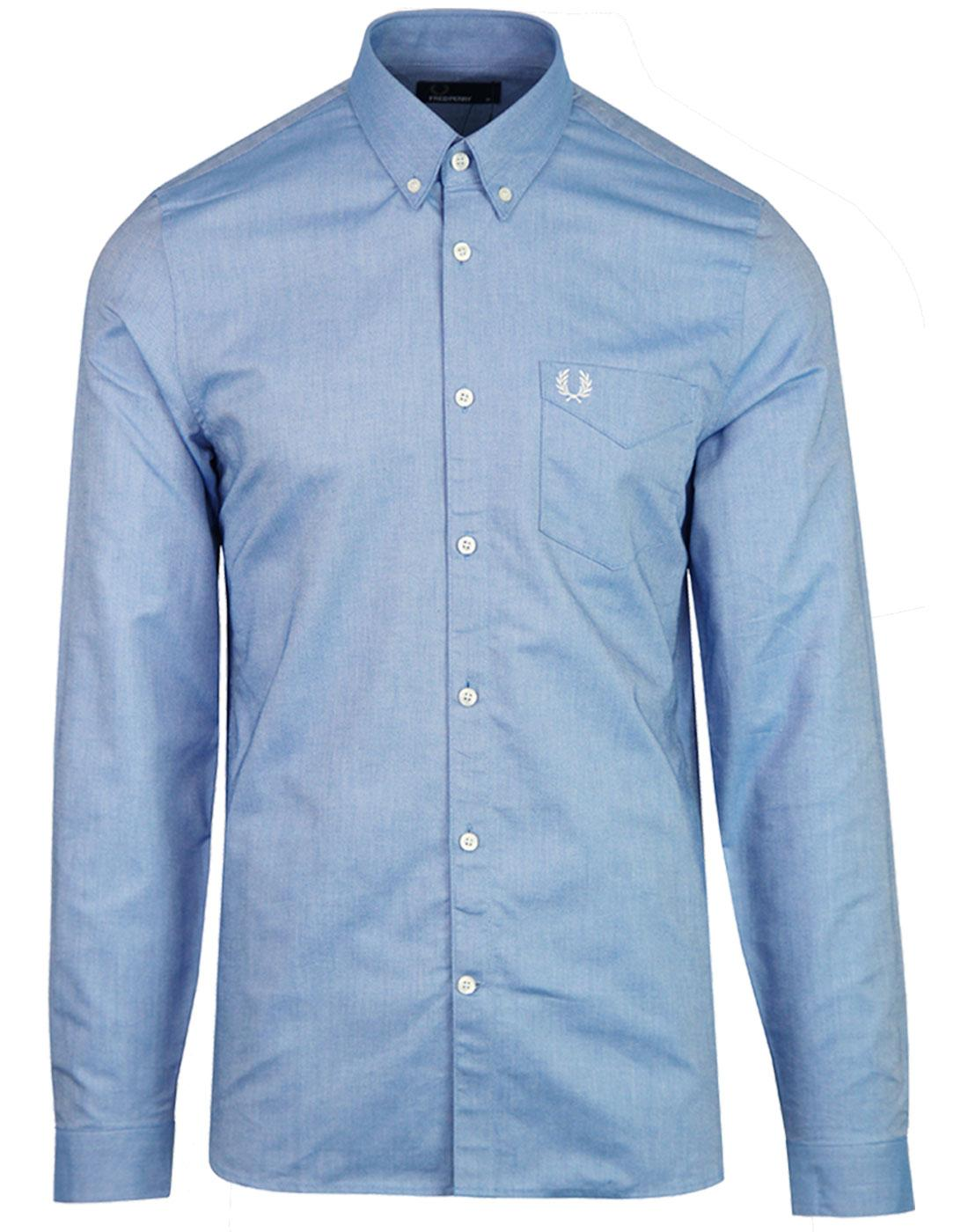 M3551 FRED PERRY CLASSIC OXFORD SHIRT MID BLUE