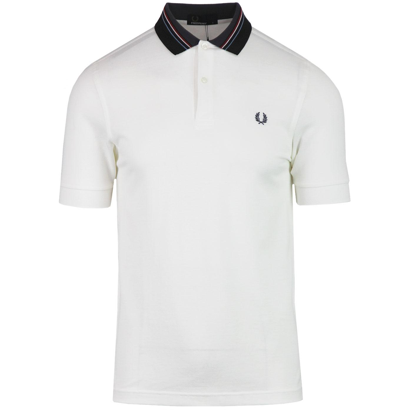 FRED PERRY Retro Mod Multi Stripe Collar Polo SW