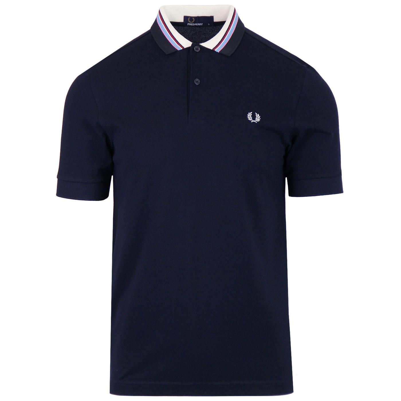 FRED PERRY Retro Mod Multi Stripe Collar Polo N