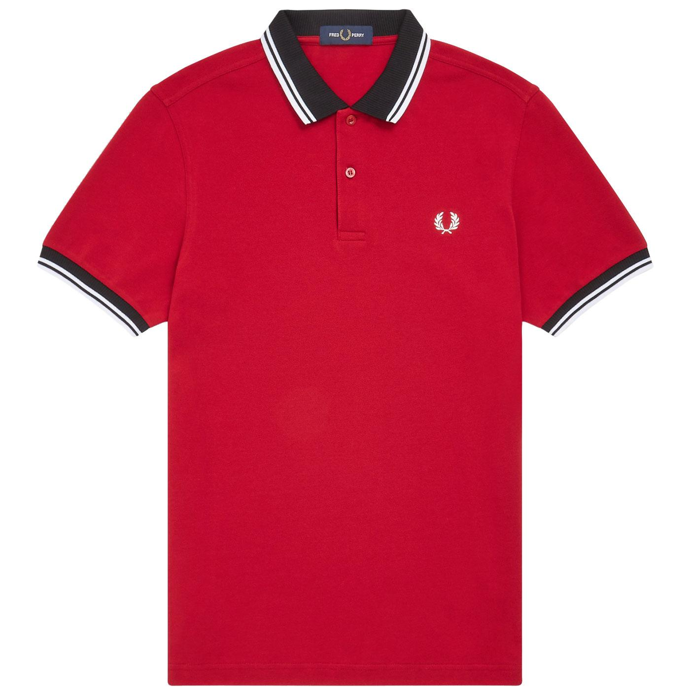 FRED PERRY Contrast Trim Tipped Mod Pique Polo S