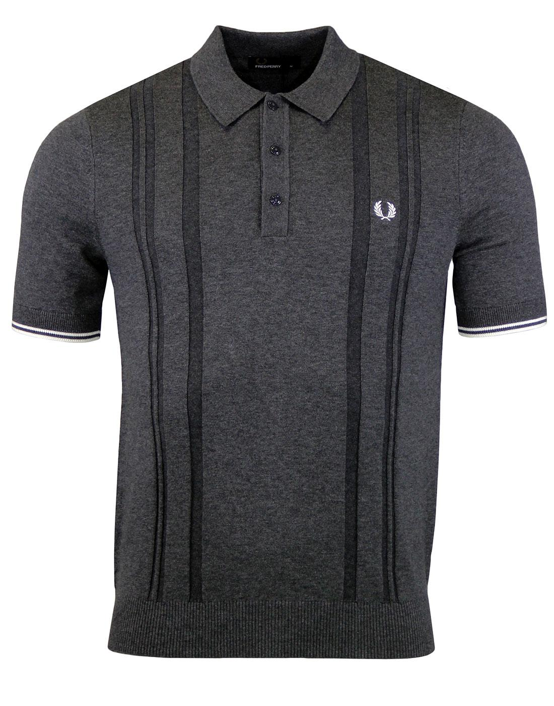 FRED PERRY Dropstitch Knit Polo Graphic Mar  K2516