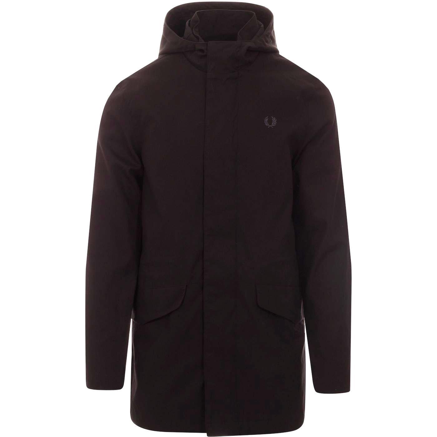 FRED PERRY Retro Mod Fishtail Parka Jacket (Black)
