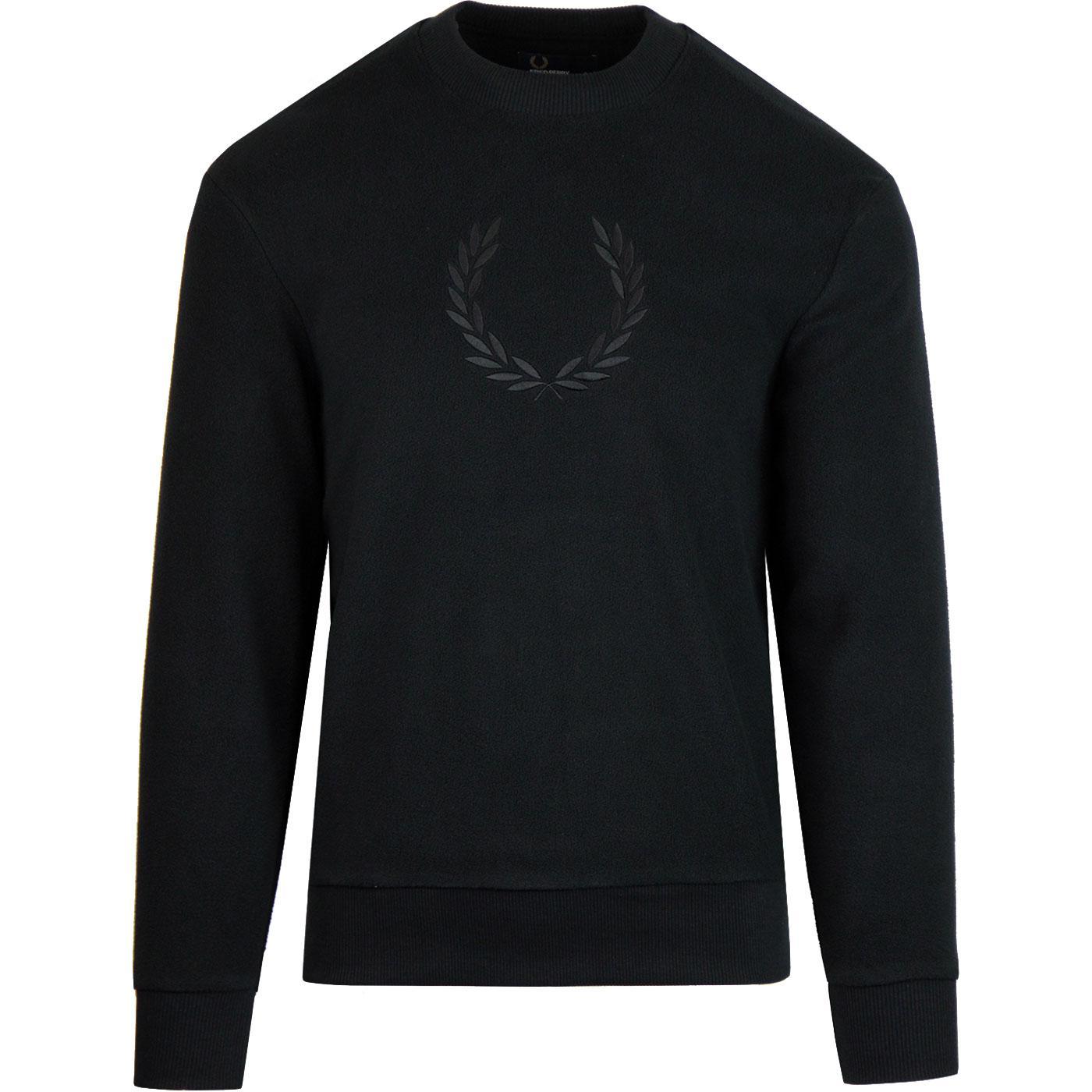 FRED PERRY Men's Retro Fleece Sweatshirt (Black)