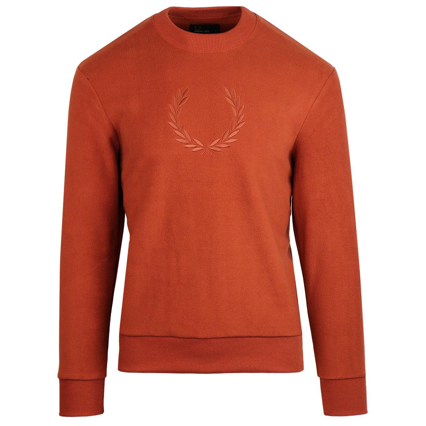 FRED PERRY Men's Retro Fleece Sweatshirt (Paprika)