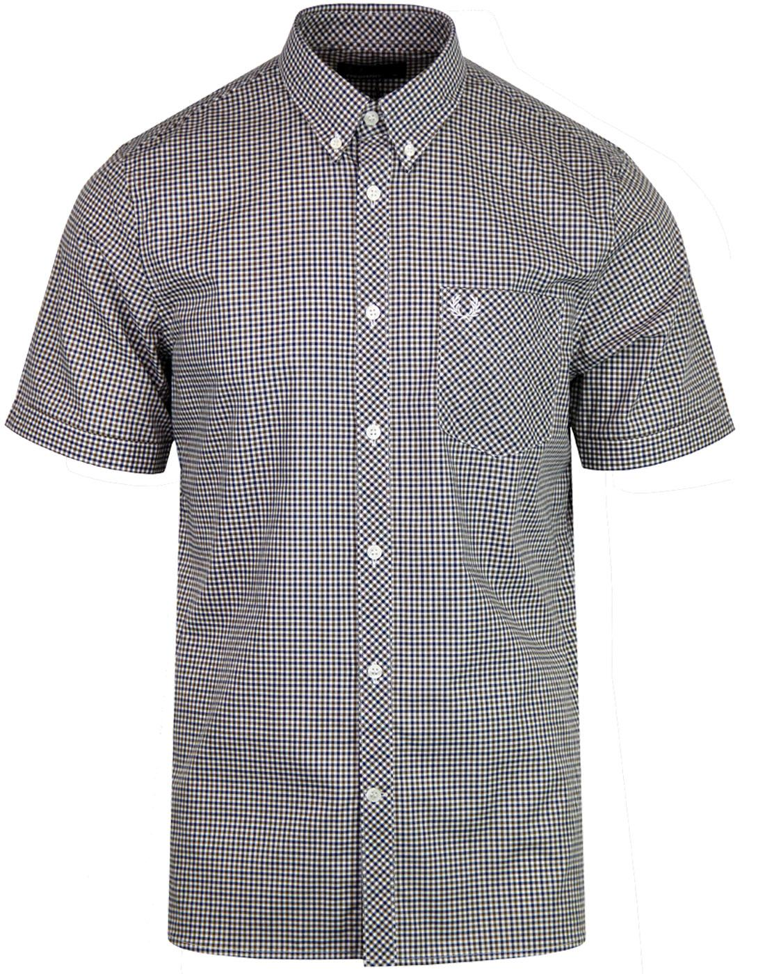 M3534 FRED PERRY 3-COLOUR GINGHAM SHIRT NETTLE
