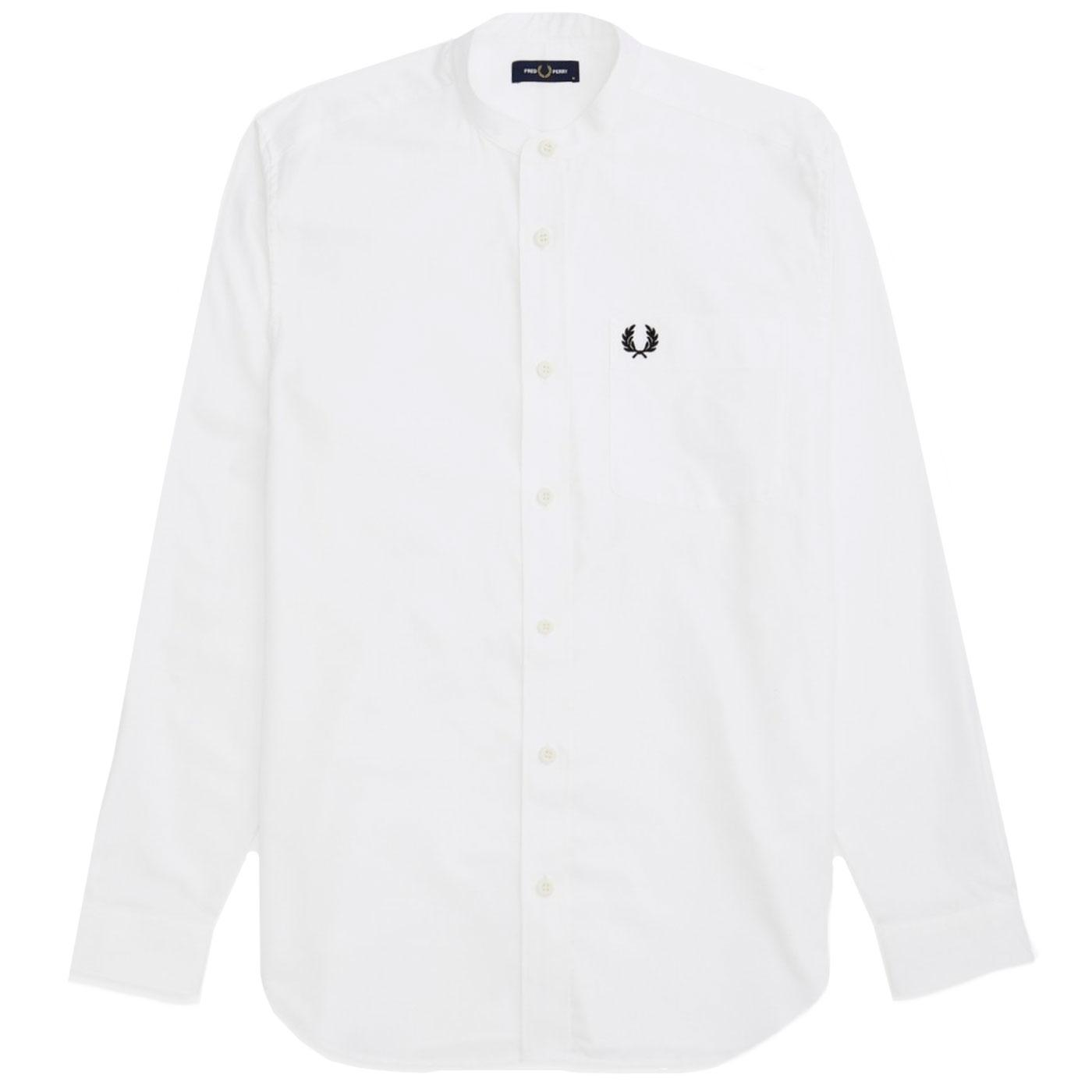 FRED PERRY Retro 60's Grandad Collar Oxford Shirt