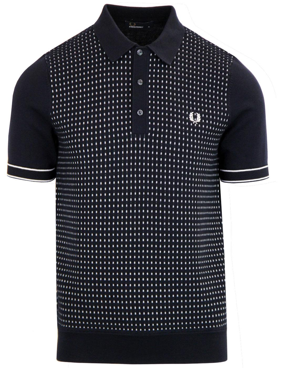 K3515 JACQUARD PANEL POLO NAVY