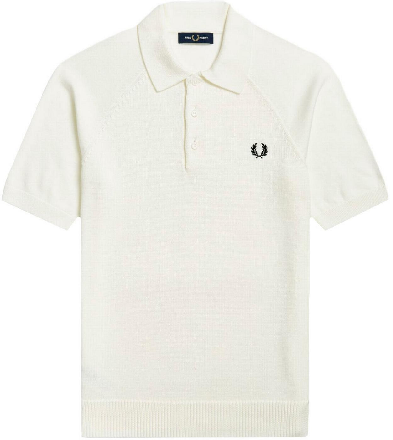 FRED PERRY Retro Mod Textured Knitted Polo Shirt