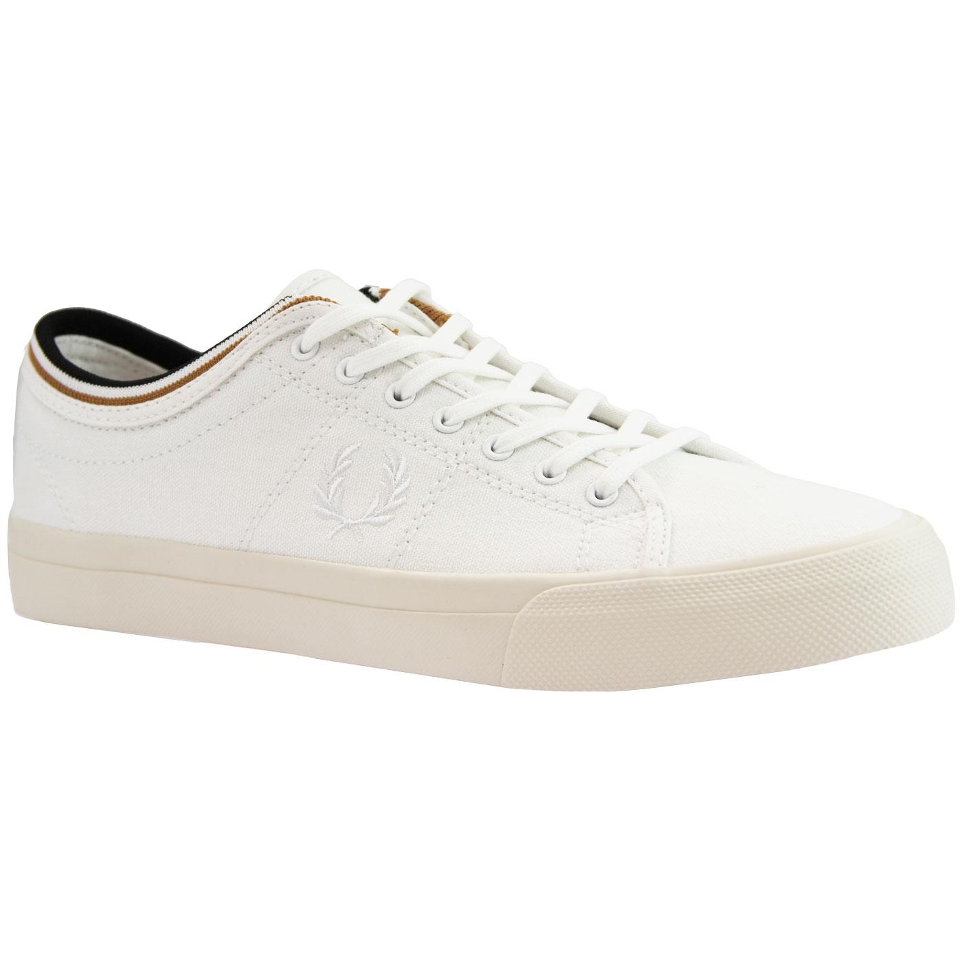 Kendrick FRED PERRY Retro Tipped Canvas Trainers
