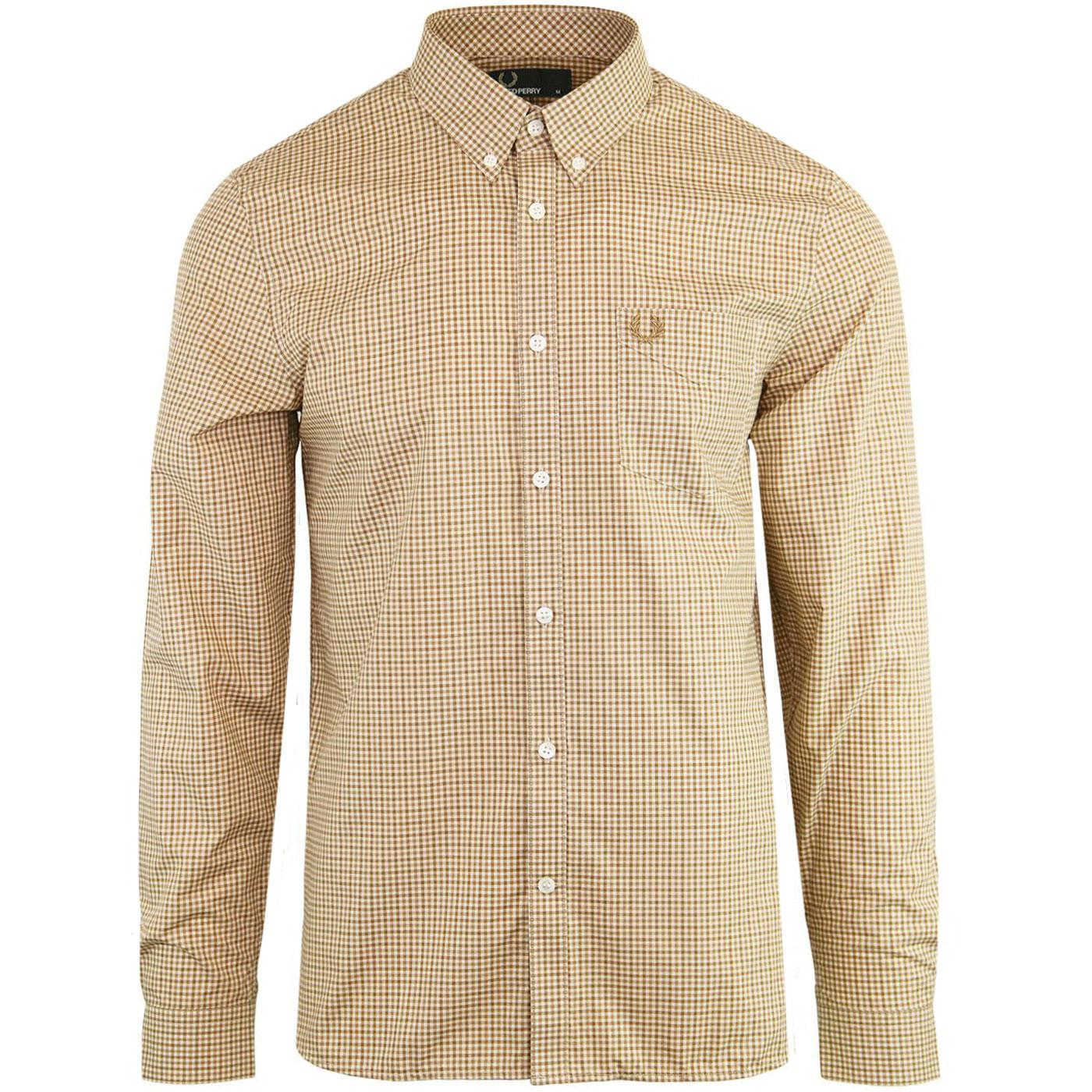 FRED PERRY Mens Mod Three Colour Gingham Shirt (C)